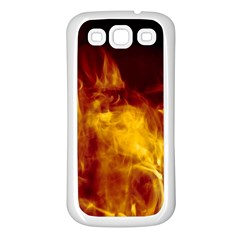Ablaze Abstract Afire Aflame Blaze Samsung Galaxy S3 Back Case (white)