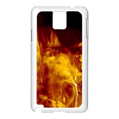 Ablaze Abstract Afire Aflame Blaze Samsung Galaxy Note 3 N9005 Case (white)