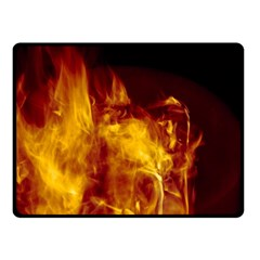 Ablaze Abstract Afire Aflame Blaze Double Sided Fleece Blanket (small)