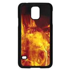 Ablaze Abstract Afire Aflame Blaze Samsung Galaxy S5 Case (black)
