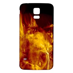 Ablaze Abstract Afire Aflame Blaze Samsung Galaxy S5 Back Case (white)