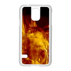 Ablaze Abstract Afire Aflame Blaze Samsung Galaxy S5 Case (white)