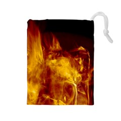 Ablaze Abstract Afire Aflame Blaze Drawstring Pouches (large)