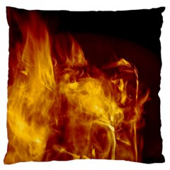 Ablaze Abstract Afire Aflame Blaze Large Flano Cushion Case (two Sides)