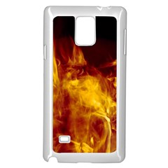 Ablaze Abstract Afire Aflame Blaze Samsung Galaxy Note 4 Case (white)