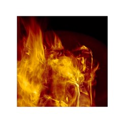 Ablaze Abstract Afire Aflame Blaze Small Satin Scarf (square)