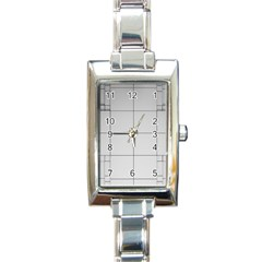 Abstract Architecture Contemporary Rectangle Italian Charm Watch