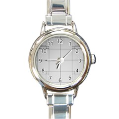 Abstract Architecture Contemporary Round Italian Charm Watch