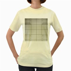 Abstract Architecture Contemporary Women s Yellow T Shirt