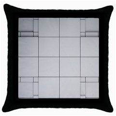 Abstract Architecture Contemporary Throw Pillow Case (black)