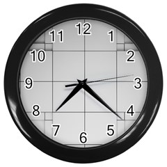 Abstract Architecture Contemporary Wall Clocks (black)