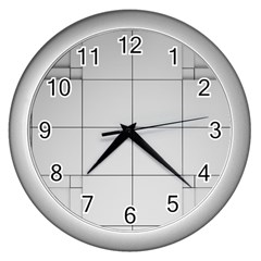 Abstract Architecture Contemporary Wall Clocks (silver)