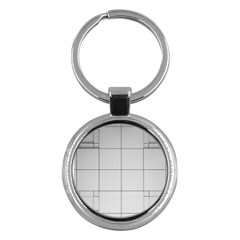 Abstract Architecture Contemporary Key Chains (round)