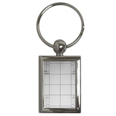 Abstract Architecture Contemporary Key Chains (rectangle)