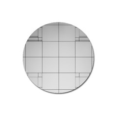 Abstract Architecture Contemporary Magnet 3  (Round)