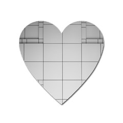 Abstract Architecture Contemporary Heart Magnet