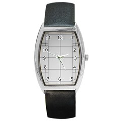 Abstract Architecture Contemporary Barrel Style Metal Watch