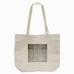 Abstract Architecture Contemporary Tote Bag (cream)