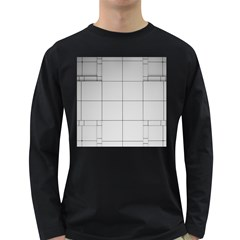 Abstract Architecture Contemporary Long Sleeve Dark T Shirts