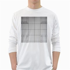 Abstract Architecture Contemporary White Long Sleeve T Shirts