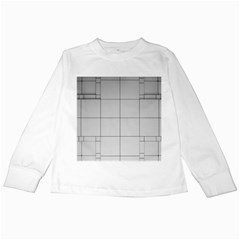 Abstract Architecture Contemporary Kids Long Sleeve T Shirts