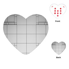 Abstract Architecture Contemporary Playing Cards (heart)