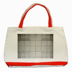 Abstract Architecture Contemporary Classic Tote Bag (red)
