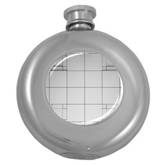 Abstract Architecture Contemporary Round Hip Flask (5 Oz)