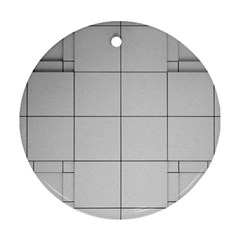 Abstract Architecture Contemporary Round Ornament (two Sides)