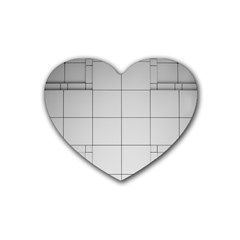 Abstract Architecture Contemporary Rubber Coaster (heart)