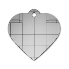 Abstract Architecture Contemporary Dog Tag Heart (two Sides)