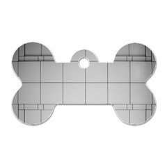 Abstract Architecture Contemporary Dog Tag Bone (one Side)