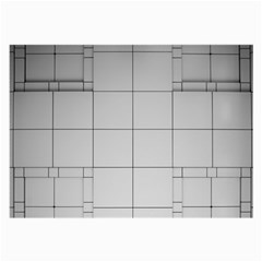 Abstract Architecture Contemporary Large Glasses Cloth (2 Side)