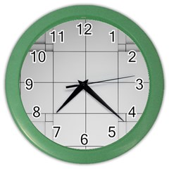Abstract Architecture Contemporary Color Wall Clocks