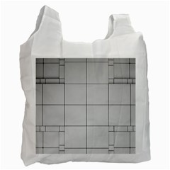 Abstract Architecture Contemporary Recycle Bag (two Side)