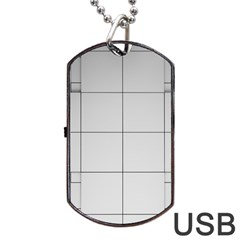 Abstract Architecture Contemporary Dog Tag Usb Flash (two Sides)