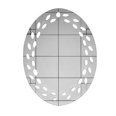 Abstract Architecture Contemporary Oval Filigree Ornament (two Sides)