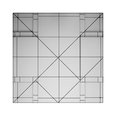 Abstract Architecture Contemporary Acrylic Tangram Puzzle (6  X 6 )