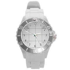 Abstract Architecture Contemporary Round Plastic Sport Watch (l)