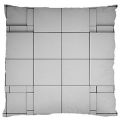Abstract Architecture Contemporary Large Cushion Case (one Side)