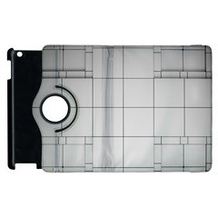Abstract Architecture Contemporary Apple Ipad 3/4 Flip 360 Case