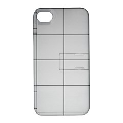 Abstract Architecture Contemporary Apple Iphone 4/4s Hardshell Case With Stand