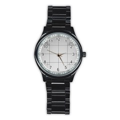 Abstract Architecture Contemporary Stainless Steel Round Watch
