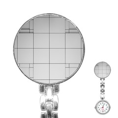 Abstract Architecture Contemporary Stainless Steel Nurses Watch