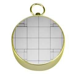 Abstract Architecture Contemporary Gold Compasses