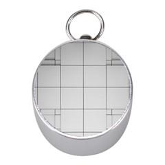 Abstract Architecture Contemporary Mini Silver Compasses