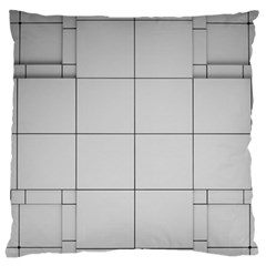Abstract Architecture Contemporary Large Flano Cushion Case (two Sides)