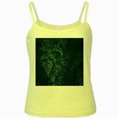 Abstract Art Background Biology Yellow Spaghetti Tank