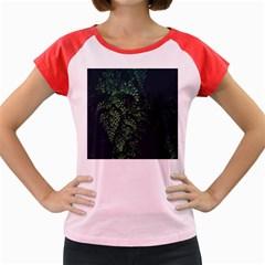 Abstract Art Background Biology Women s Cap Sleeve T Shirt