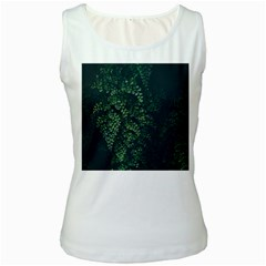 Abstract Art Background Biology Women s White Tank Top